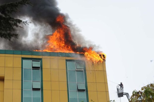 Kağıthane iş merkezi yangın