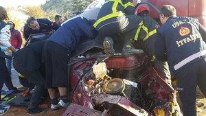 Uşak'ta TIR'ın sürüklediği otomobildeki hamile kadın öldü