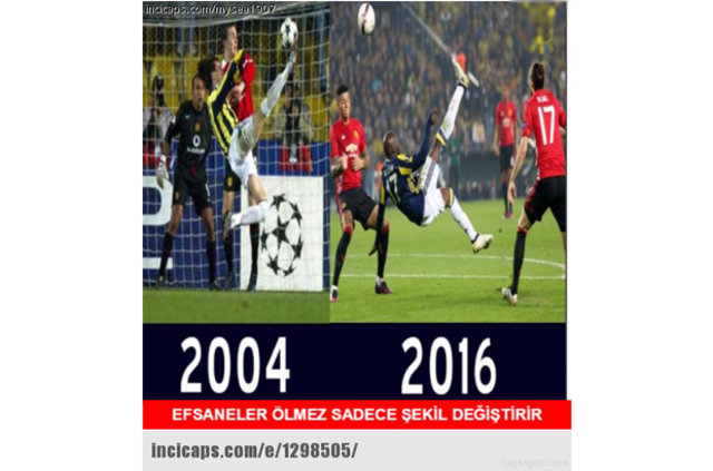 Fenerbahçe-Manchester United maçı capsleri