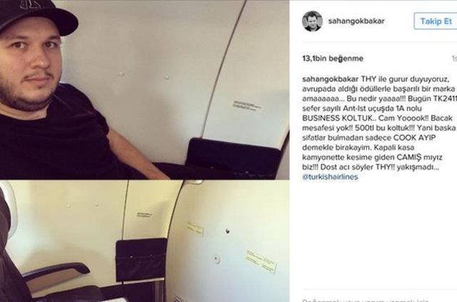 Şahan Gökbakar'ın uçak paylaşımı üzerine THY konuya el attı