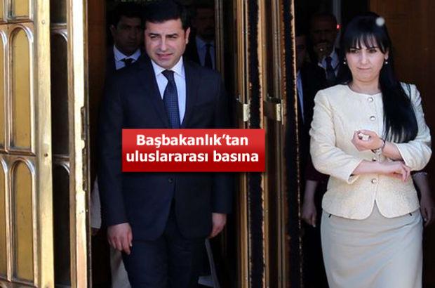 """Başbakanlık ve İçişleri'nden """"HDP"""" açıklaması!"""