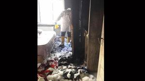 Amasya'da eşiyle tartışan koca evi ateşe verdi
