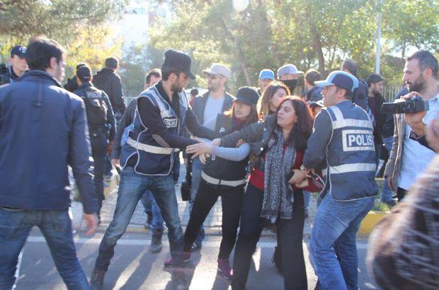 Sebahat Tuncel adliye önünde gözaltına alındı