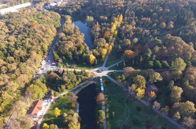 Atatürk Arboretumu'nda sonbahar manzaraları havadan görüntülendi