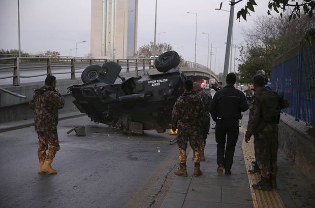 Başkent ankara zırhlı polis aracı kaza