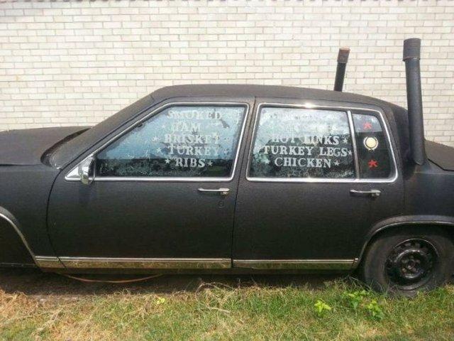 Cadillac'tan barbekü yaptılar!