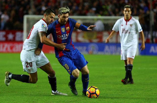 FC Barcelona'nın yıldız futbolcusu Lionel Messi, 500. golünü Sevilla'ya attı
