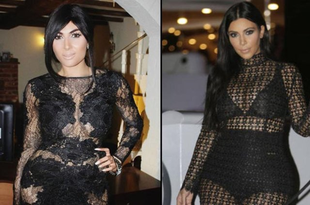 Claire Leeson ünlü yıldız Kim Kardashian'a benzemek uğruna estetik operasyonlar geçirdi