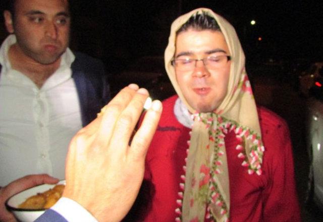 Düğün gecesi damadın zor anları!