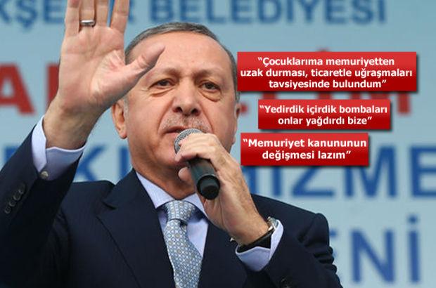Erdoğan: Birileri tehdit ettiğinde kepenk indiren değil...