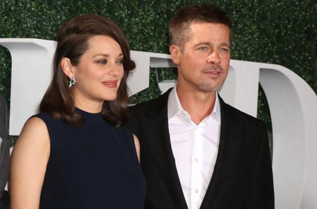 Brad Pitt ve Marion Cotillard galada birlikte