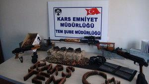 Kars'ta PKK'nın silah ve mühimmatı ele geçti