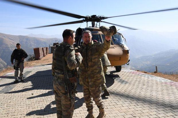 Genelkurmay Başkanı ve komutanlar Şırnak'ta
