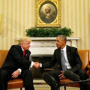 Donald Trump ilk kez Beyaz Saray'da