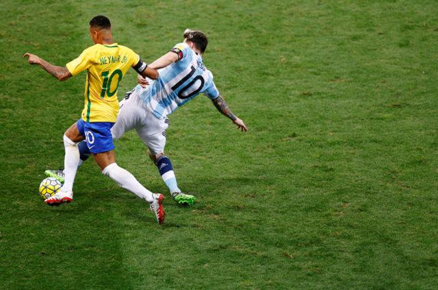 Arjantin - Brezilya maçı geceye damga vurdu