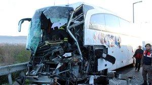 Düzce'de trafik kazası meydana geldi