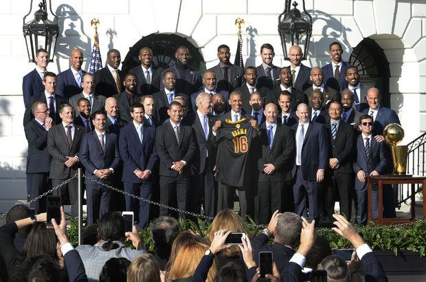 Cleveland Cavaliers Beyaz Saray Obama