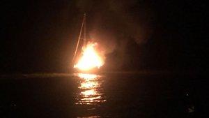 Bodrum'da tekneye yıldırım düştü