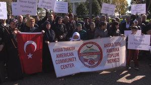 Ahıska Türkleri Beyaz Saray önünde toplandı