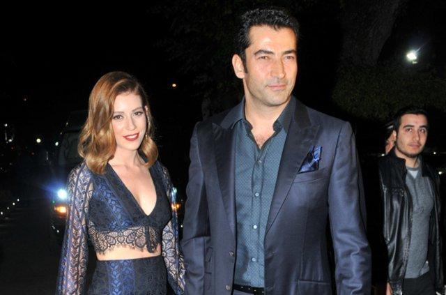 Kenan İmirzalıoğlu ve eşi Sinem Kobal'ın gece gezmesi