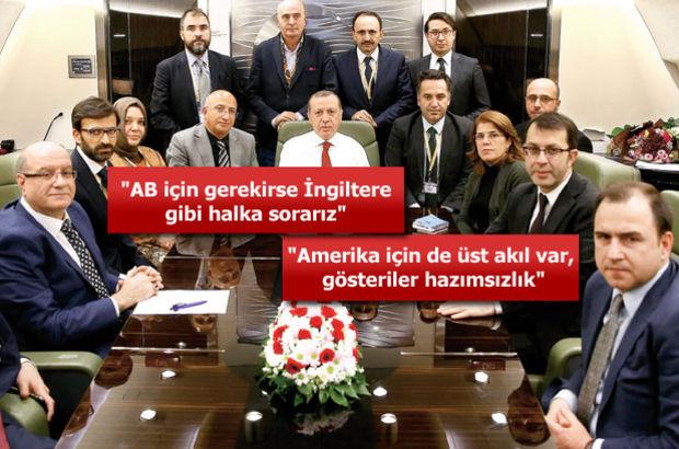 Erdoğan'dan Trump yorumu: FETÖ'den para alıp kazanmadı ki