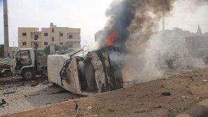 DEAŞ Azez'de bombalı saldırı düzenledi