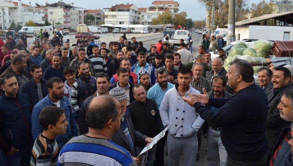 Balıkesir pazar yeri polis müdahalesi