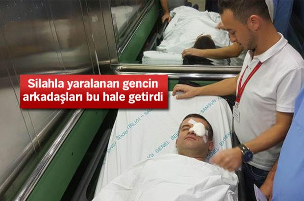 Silahla vurulan hastaya müdahale eden doktoru hastanelik ettiler