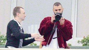 Karim Benzema, paparazzi oldu