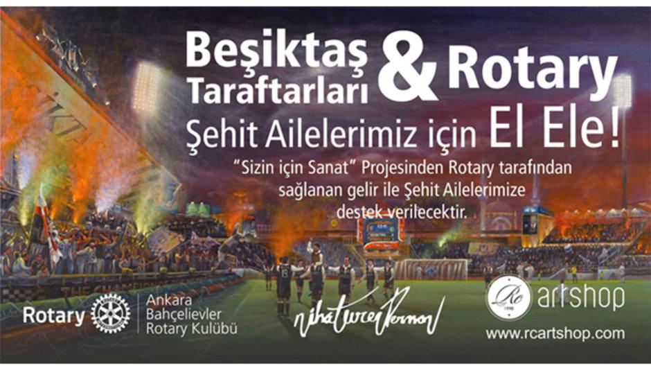 Beşiktaş taraftarları-Rotary