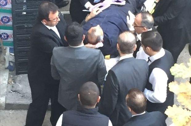 Meclis personelinin üzerine mermer düştü! İlk müdahale Bakan Akdağ'dan