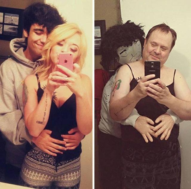 Kızının seksi selfie'lerini durdurmak isterken fenomen oldu!