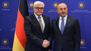 Çavuşoğlu ile Steinmeier'den ortak basın toplantısı