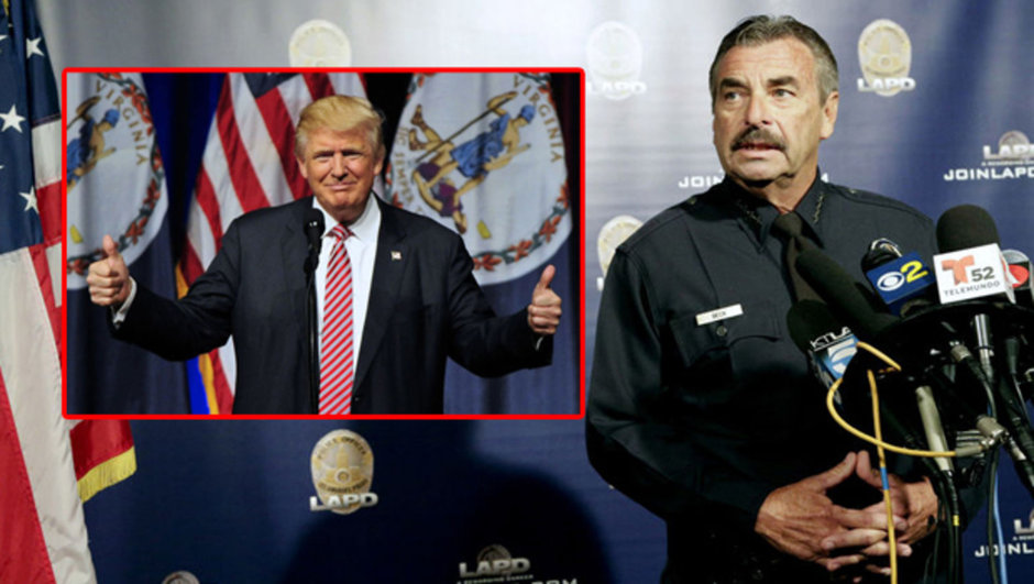 Los Angeles ABD Los Angeles Polis Departmanı Polis Şefi Charlie Beck Donald Trump