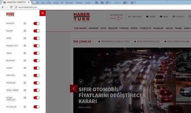 HABERTURK.COM'un yeni arayüzüyle gelen yeni özellikler!