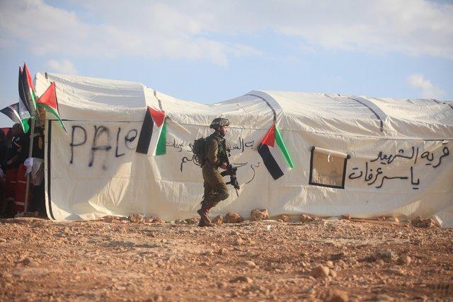 Filistinliler Yahudilere karşı köy kurdu