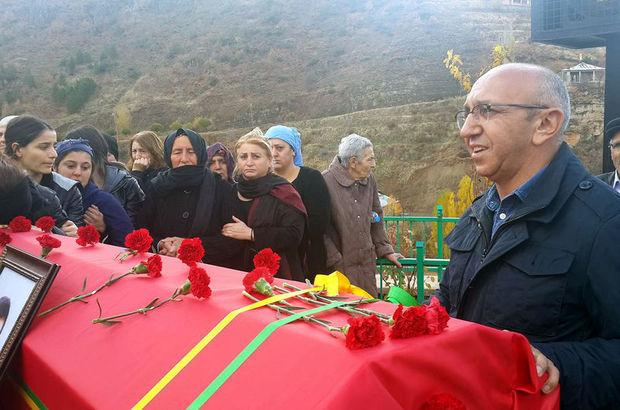 HDP Milletvekili Önlü, terörist cenazesine katıldı