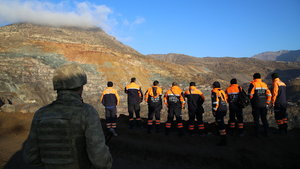 Siirt'te maden sahasında heyelan