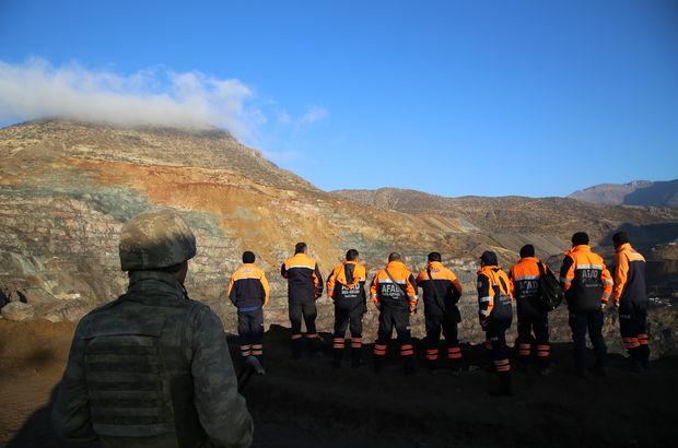Siirt maden sahasında heyelan