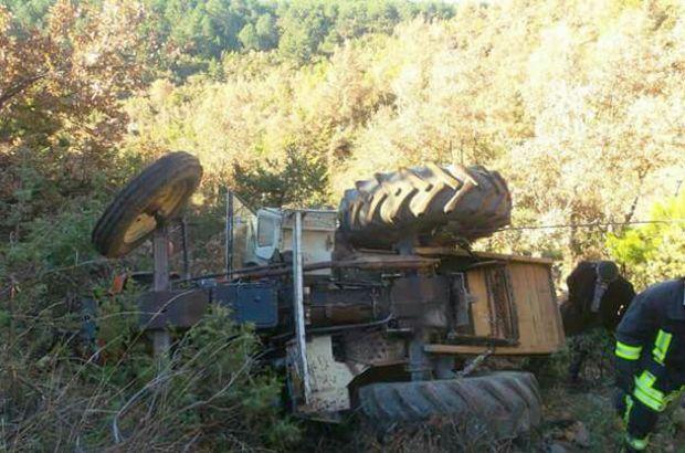 Kastamonu'da traktör kazası meydana geldi