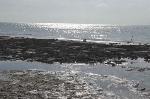 Marmara Ereğlisinde deniz suyu 20 metre çekildi