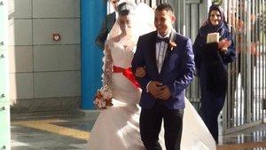 Olimpiyat Metro İstasyonu'nda ikinci nikah kıyıldı