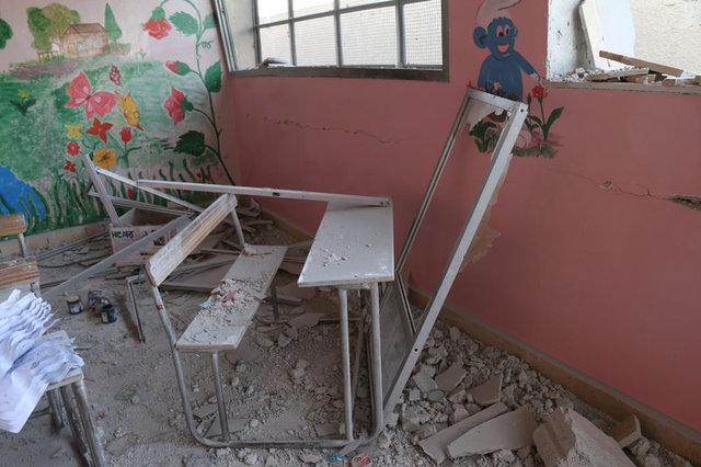 Şam'da okula vakum bombalı saldırı