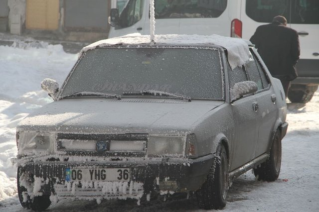Ardahan'da dondurucu soğuk