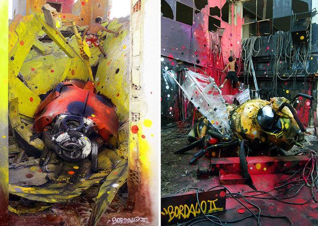 Çöpleri birer sanat eserine dönüştürdü!