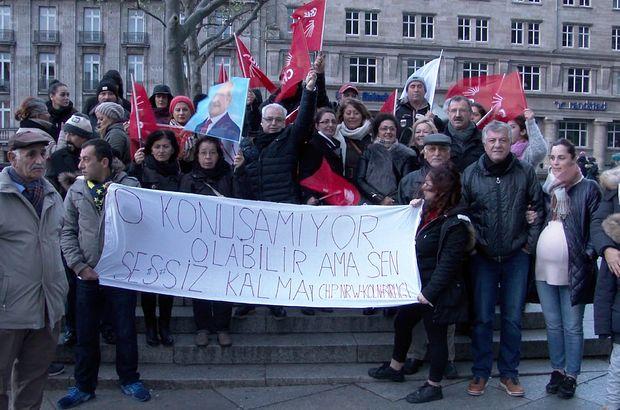 Köln'de 'cinsel istismar' protestosu