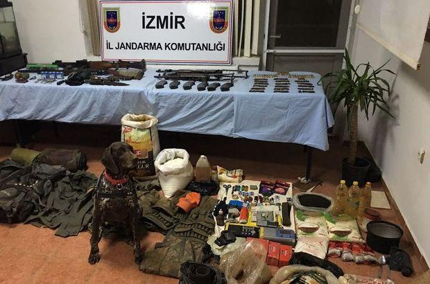 Jandarma PKK'nın İzmir'deki sığınaklarını dağıttı