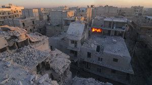 Halep'te yerleşim yerine saldırı: 4 ölü, 10 yaralı