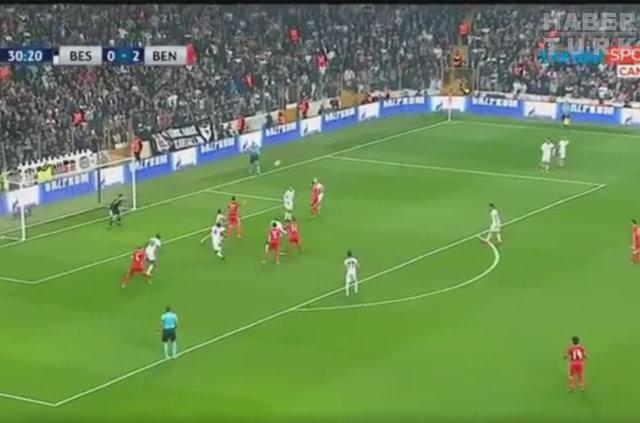 Beşiktaş'ın Benfica'dan yediği gol (3 direk)