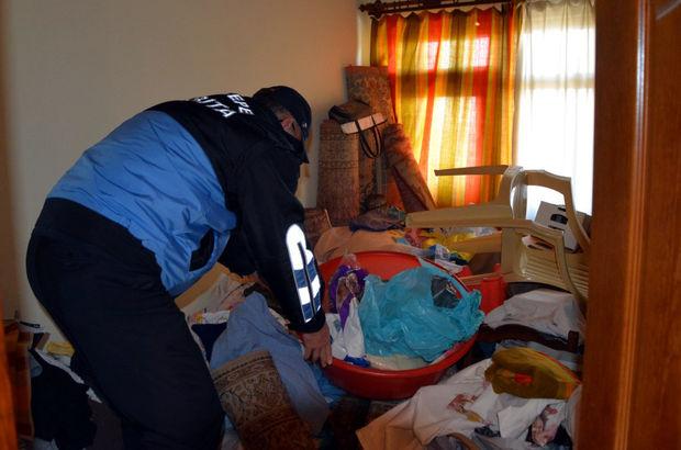 Kocaeli'de bir evden 3 ton çöp çıktı
